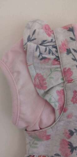 Baby Girls Floral Dress and Pink Top 2 Piece Set Nutmeg 0-24 Months NEW