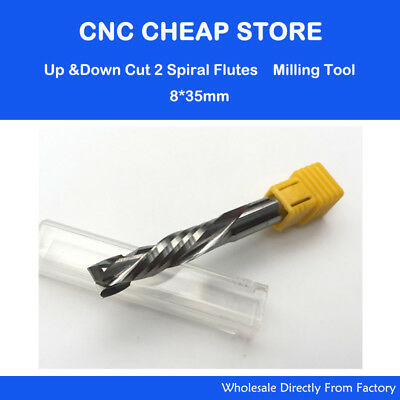 1pc HQ Up /& Down 6x25MM Two Flutes Spiral Cutter Wood PVC MDF CNC Router Bits