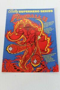 Fireball Truck Sales >> Details About Original Bally Pinball Machine Fireball Ii Flyer Brochure Sales Ad Original