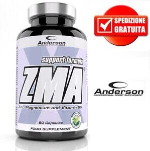 Anderson integratore ZMA 60cps Anabolico Magnesio Zinco Vitamina B6 brevettato - Italia - Anderson integratore ZMA 60cps Anabolico Magnesio Zinco Vitamina B6 brevettato - Italia