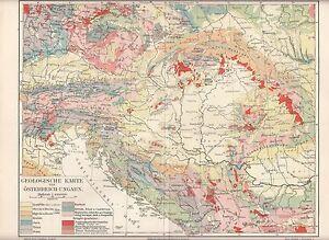 C 1890 Hungary Austria Poland Ukraine Croatia Slovenia Geological