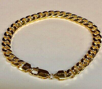 7mm 9mm 8mm 14k Men/'s yellow gold diamond curb 24 inch chain 6mm
