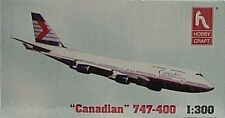 Hobby Craft 1/300 Canadian 747-400 Commercial Passenger Jet New 1143