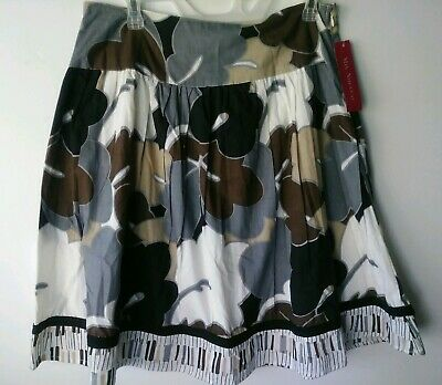 Apprehensive Mix Nouveau New York Black & Gray Flare Skirt Size Medium Nwt Style # 27175 Vgc Clearance Price Skirts
