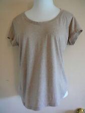 Women's Knit Top Plus Size XXXL Ambiance Apparel Brown Cotton Blend Short Sleeve
