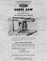 Craftsman 605.29520 Sabre Saw Attachment Instructions