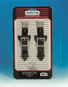 Grayston-Pair-Black-Leather-Bonnet-Boot-Panel-Securing-Straps