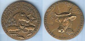 Medaille-de-table-PARIS-1985-salon-international-de-l-039-agriculture-R-B-BARON