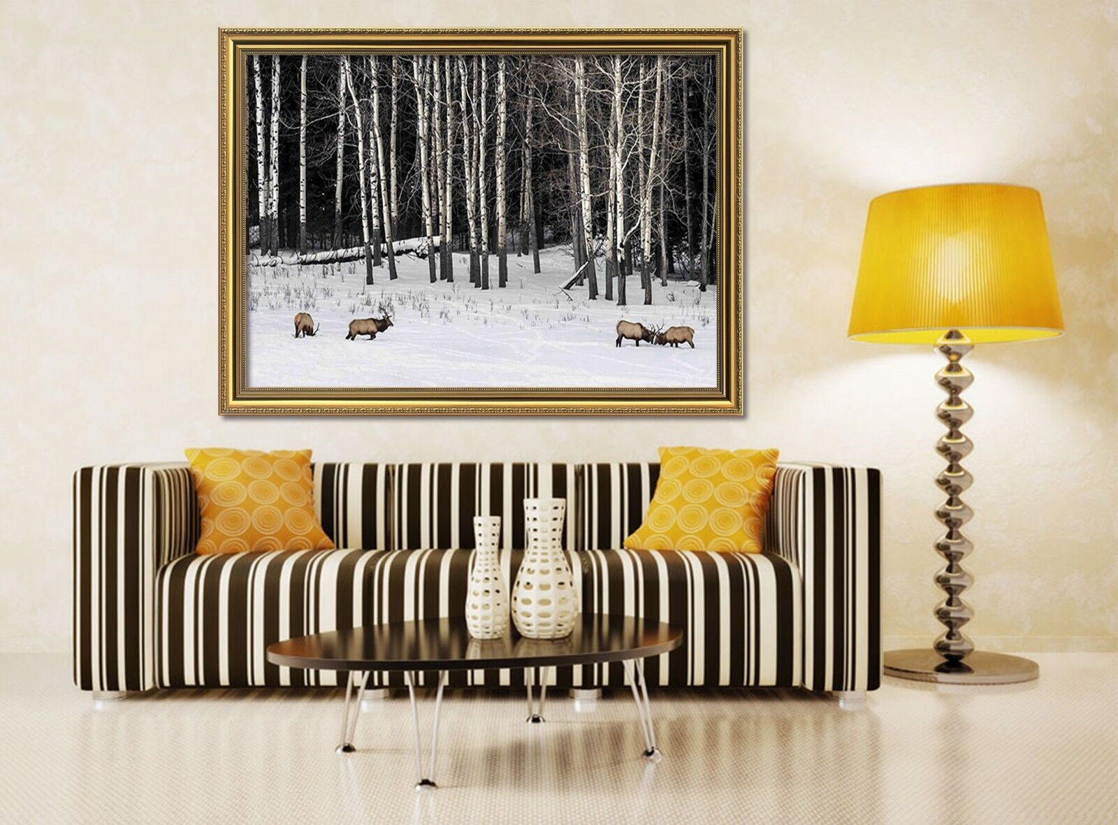 3D Snow Forest Animals 11 Framed Poster Home Decor Print Painting Art WALLPAPER