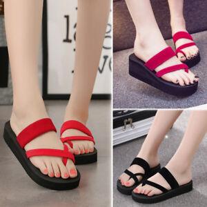 2018-Womens-039-Flip-Flops-Casual-Slippers-Flat-Sandals-Beach-Open-Toe-Shoes