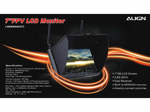 Alinear FPV Monitor LCD 7
