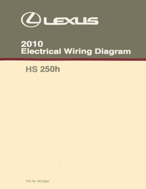 2010 Lexus Hs 250h Wiring Diagrams Schematics Layout Factory Oem