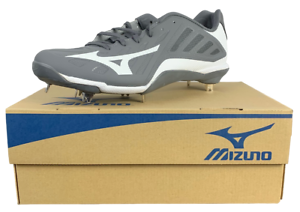 Mens Mizuno Heist IQ Baseball Cleats New with Box Various Sizes Gray//White