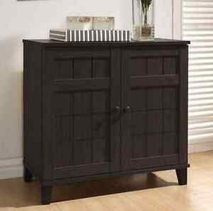 shoe cabinet buffet dark wood entryway dining room sideboard table new