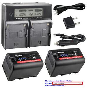 Kastar Lcd Dual Cargador Rápido De Batería Para Sony BP-U30 BC-U1 BC-U2 & Sony PMW-100