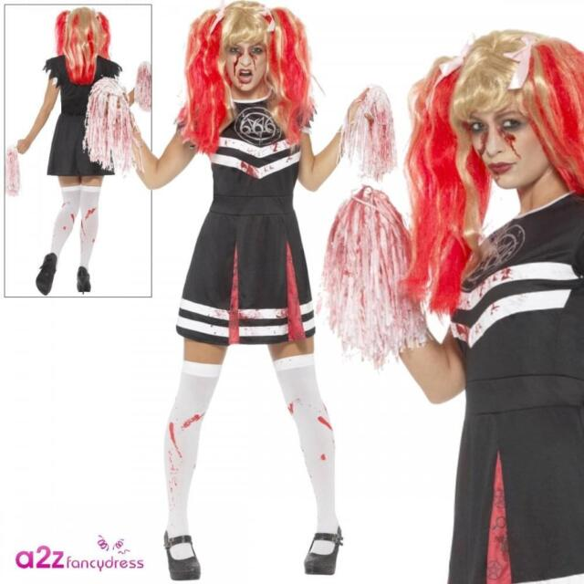 Zombie Cheerleader Costume Smiffys Fancy Dress Costume