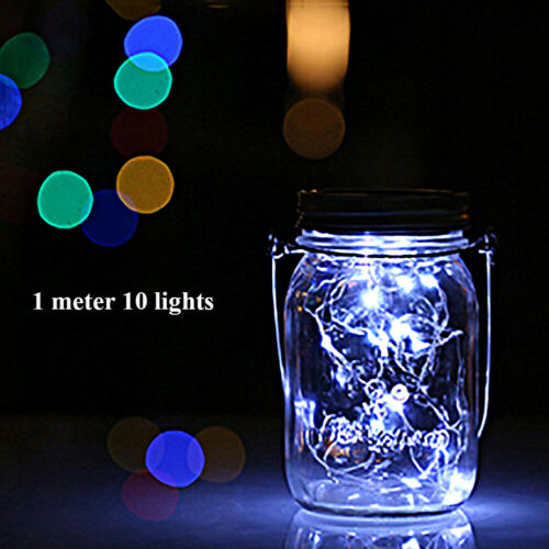 10//20 lights String Light Mason Bottle Cap LED Solar Light Garden Night Lights