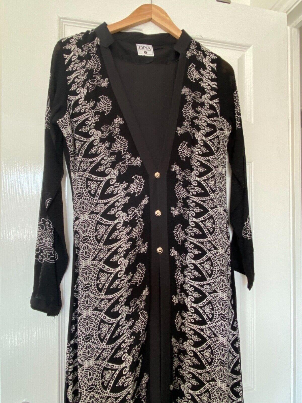Clearance Modest Black Ladies Maxi Churidar/Shalwar Salwar Kameez, Size S
