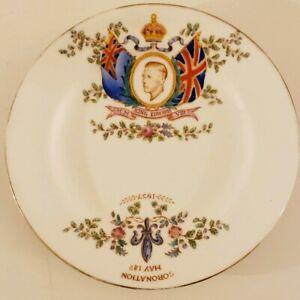 Vintage-1937-H-M-King-Edward-XIII-English-Coronation-Plate-Tuscan-China-England