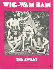 Wig-Wam Bam - The Sweet - 1972 Sheet Music