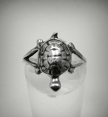BAGUE ARGENT MASSIF 925 TORTUE TAILLE 45 - 64 R001249 EMPRESS
