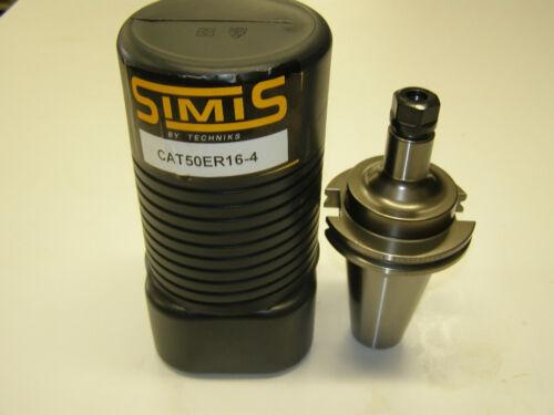 """SIMIS CAT 50 ER 16 4/"""" COLLET CHUCK TECHNIKS ER16 TOOLHOLDER CV50 CAT50"""