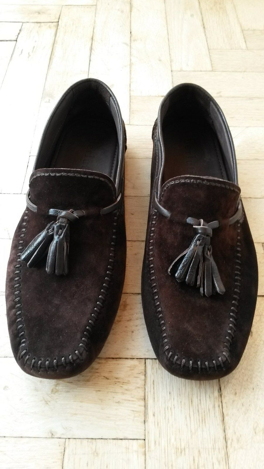 Original Berluti Car Shoe/Mokassin in braunem Wildleder