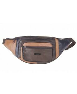 Ladies Cowhide Tan Leather Waist//Bum Bag By Lorenz New And Tagged