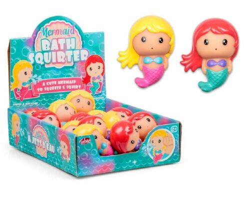 MERMAID BATH SQUIRTER Squirt Toy Kids Baby Shower Water Play Favor Gift UK