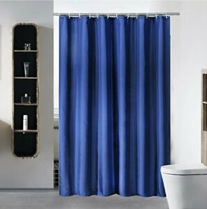 Fabric Shower Curtain Liner Water Repellent Eco Friendly With White