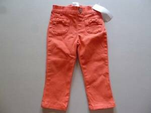 GYMBOREE-Cherry-Blossom-Collection-Denim-Coral-Jeans-Pants-12-18-24-month-5T-NEW