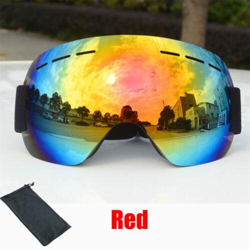 Adult Anti-fog Double Layers UV Skiing Snowboard Goggles Sunglasses Glasses IR
