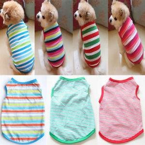 Pet-Spring-Summer-Stripe-Dog-Vest-Puppy-Cotton-Coat-T-Shirt-Cat-Clothes-Apparel