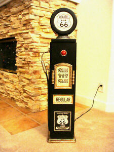 Image Is Loading 42 034 Route 66 Black Gas Pump Cabinet