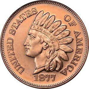 1 oz Copper Round - 1877 Indian Head