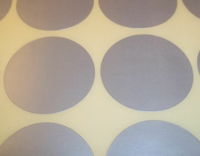 60 Silver 45mm 1 3/4 Inch Colour Code Dots Round Stickers Sticky ID Labels