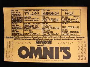 ORIGINAL PUNK CONCERT FLYER-BAUHAUS PETER MURPHY-Nona Hendryx-Omni Philly 1980s