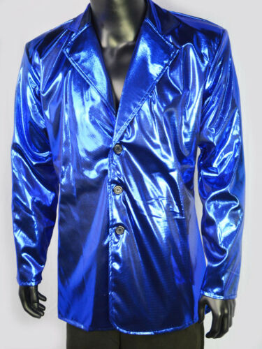 80s Disco Jacket Glanz Gr L XL pink grün gold blau