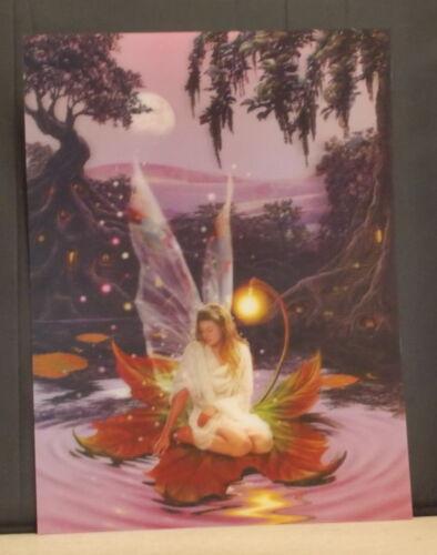 3D Lenticular Image 395mm X 295mm Unframed Fairy on a leaf