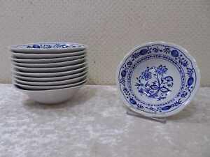 11 x Kahla Porzellan Dessert Müsli Schale DDR Design Zwiebelmuster Vintage 13 cm