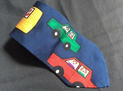 Classic wide neck tie from Save the Children school education navy 100% silk BUS