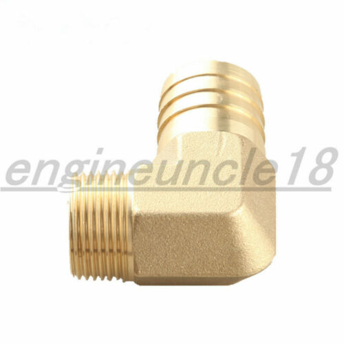 """New 3//4/"""" Male 90 Elbow Brass Hose Barbs Barb To 1//2/"""" NPT Pipe Male Thread"""