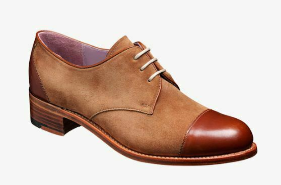 Women's Bespoke Handmade Two Tone Oxford Toe Cap Leather & Suede Lace-Up Shoes