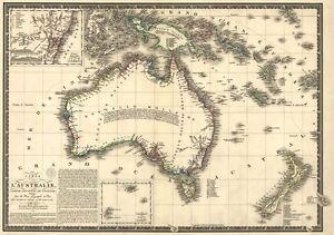 Carte Maestro Australie.Details Sur Mp57 Vintage 1826 Historique Antique Vieille Carte De L Australie Poster A1 A2 A3 Afficher Le Titre D Origine