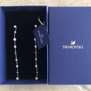 Boucles d'oreilles SWAROVSKI Pendantes Femme Perles Cristaux ...