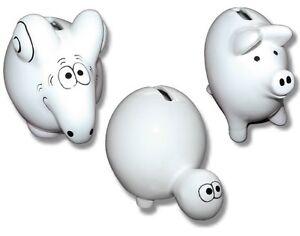 Spardose-hochwertige-Keramik-Hochglanz-weiss-Schwein-Maus-oder-Schildkroete