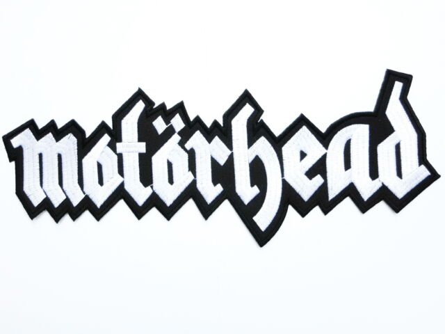 MOTORHEAD Logo Heavy Metal Big Iron On Sew On Embroidered Back Patch 13""