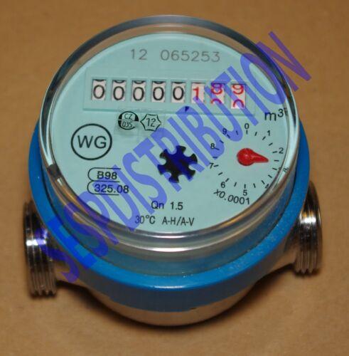 Compteur d/'eau divisionnaire cadran à sec longueur 80 mm locataire pompe etc...