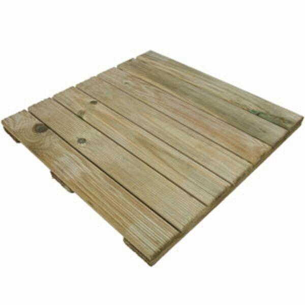 1 X 45cm Square Garden Wooden Decking Tiles Tile Boards