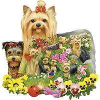 Bits And Pieces Shaped Puzzle A Yard Full Of Yorkies Jack Williams 750 Pcs
